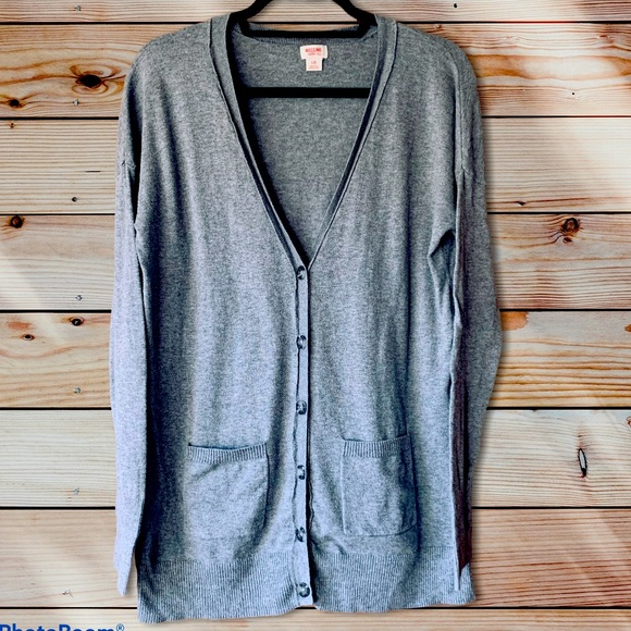 Mossimo Gray button down cardigan-large